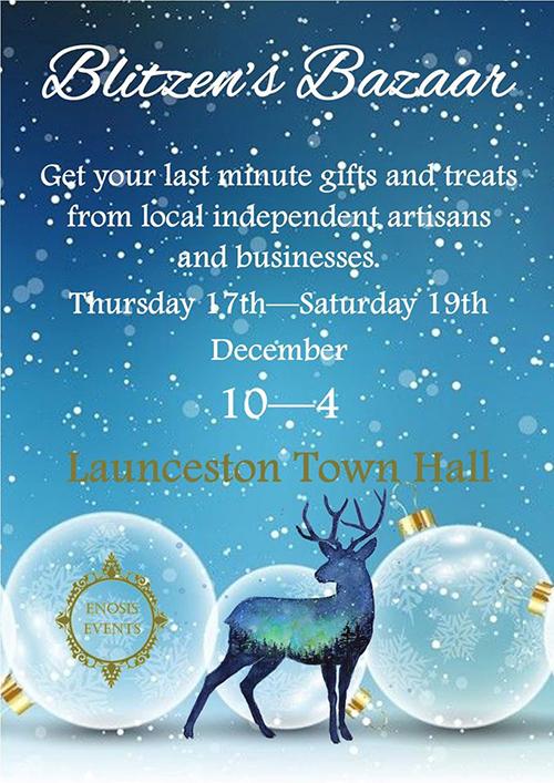 Advert for Launceston Christmas 2020 Blitzen's Bazaar